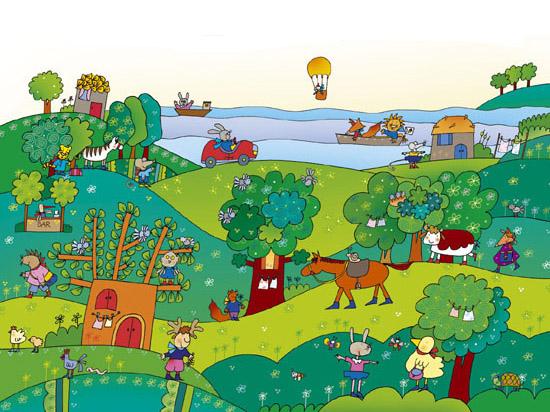 Illustratori per editoria ragazzi scolastica favole fiabe for Disegni di cabina di campagna